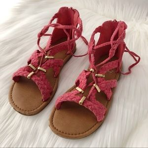 Other - Pink + Gold Gladiator Sandals, Girl's Size 11, EUC